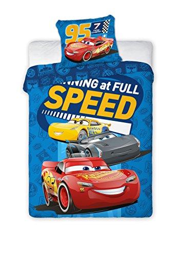 DisneyJuego de cama infantil III 2piezas 100% algodón 40x 60+ 100x 135cm con cremallera Cars Speed Talla:tamaño: 100 x 135 cm + 40 x 60 cm
