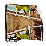 Tumbonas para tumbonas de cubierta de la silla linda rana estuche para lápices de la bolsa de la bolsa de la cremallera de la bolsa para artículos de papelería, viajes, escuela, suministros
