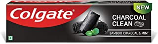 Colgate Charcoal Clean Toothpaste, Bamboo Charcoal and Mint (Black Gel) – 120g