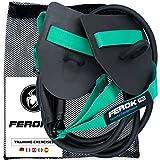 Ferok - Elastico Sport Sollevamento Pesi - Banda di Resistenza Fitness con Cinghia e Piastra di Nuoto - Ideale per l'Allenamento per la Forza a Casa - Versione Medium Verde