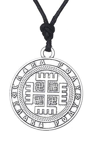 Dawapara Pagan Slavic Faith Hand of God Cross Pendant Solar Symbol Necklace for Men Women