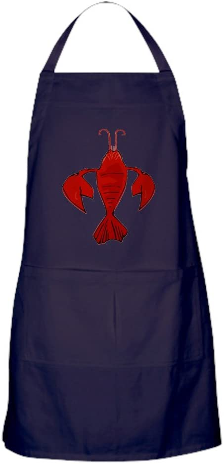 CafePress Crawfish Same day shipping Fleur De Craw with Kitchen Apron Excellence Dark