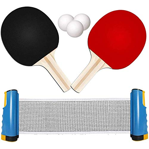 TOMAT Retractable Portable Table Tennis Net Ping-Pong...