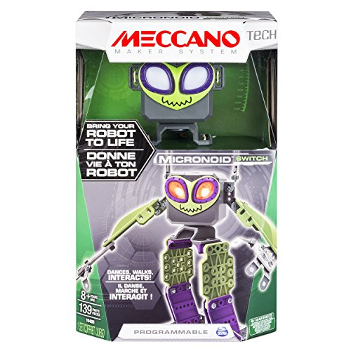 Meccano - Micronoid - Green Switch - Bring Your Robot To Life, Dances, Walks, Interacts