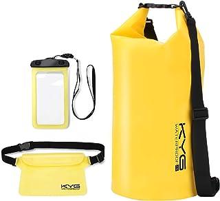 comprar comparacion KYG Bolsa Estanca 20L Impermeable Seca Set de Bolsa Waterproof con Funda Táctil de Móvil y Bolsa Cintura para Playa y Depo...