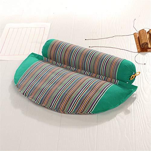 Almohadas Cama Trigo Sarraceno Organic Grueso Tela Paquete Reparar Cervical Espina Adulta Almohada Para Dormir Ortopédicos Almohadas De Dormir Buena,Green