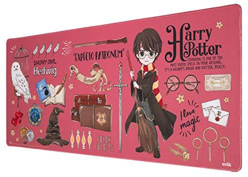 Erik® - Tapis de Souris XXL Harry Potter - Tapis de Souris Gamer - Mouse pad 80 x 35 cm