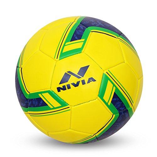Nivia Spinner Machine Stitched Football (Brazil)