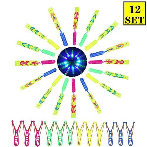 uschangfan Rocket Copters LED Lights Light Slingshot Outdoor Game LED Slingshot