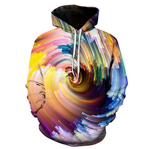 Unisex 3D Druck Hoodie Sweatshirts, Luotuo Creative Realistisch Dreidimensional Druck Lange Ärmel Kapuzenshirt Herbst Winter Mode Casual Lose Kapuzenpullover Top für Herren Damen
