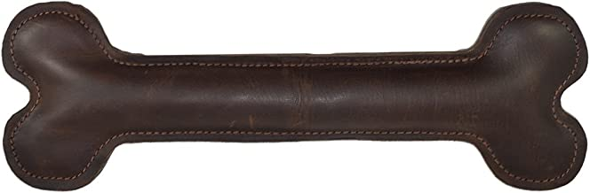 Hide & Drink Thick Leather Good Doggy Medium, Chew Toy Gift for Dogs Handmade Bourbon Brown