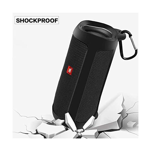 silicone case compatible for jbl flip 5 waterproof portable bluetooth speaker, gel soft skin cover, waterproof rubber…