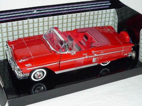 Chevrolet Chevy impala Cabrio Rot 1958 Oldtimer 1/24 Motormax Modellauto Modell Auto