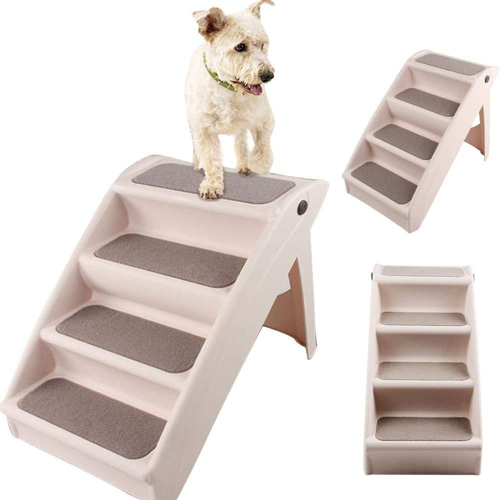 Escaleras Para Mascotas, Escalones Plegables Para Mascotas Escalera Antideslizante Para Mascotas De 4 Escalones Rampa Para Mascotas Para Perros Y Gatos Animal, Asistencia Para Escaleras De Escaleras: Amazon.es: Hogar