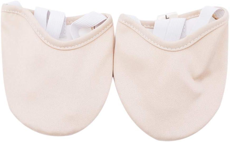 Iumer Ballet Belly Dance Half Sole Dance Shoes Foot Thong Dance Paw Pad Shoes Women,Beige,S