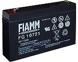 BATTERIA FIAMM 6V 7,2 Ah FG10721 VRLA AGM ERMETICA UPS