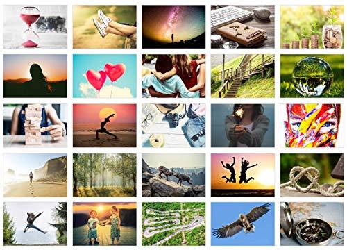 Edition Seidel Set 25 Premium Postkarten Motivationskarten Kommunikationstraining Konversation-Spiel Coaching Tools Karten Landschaften Natur Gefühlskarten Selbst-Achtsamkeit