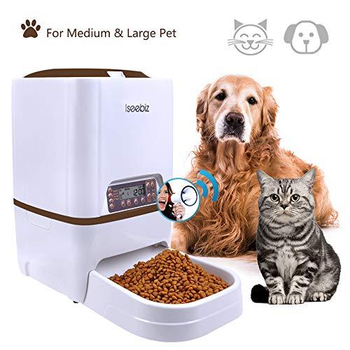 Iseebiz 6 L Comedero Automatico para Perros/Gatos con 4 Comidas Diario