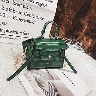 Adebie - Alligator Pattern Children's Messenger Bag New Girl Crocodile Patent Leather Mini Cute Simple Handbag Fashion Kid's Shoulder Bag Green []