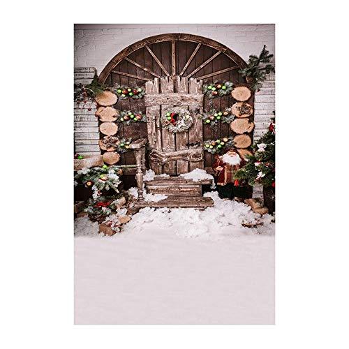 ODJOY-FAN Weihnachten Fotografie Hintergrund, 3D Aufkleber Schneemann Hintergründe Vinyl 3x5FT Laterne Hintergrund Fotografie Studio Photography Background (90x150cm) (C,1 PC)
