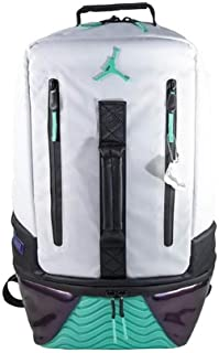 Air Jordan Retro 11 Backpack (One Size, White/Emerald Rise)