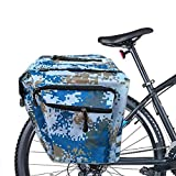 SATIC Bolsas para Bicicletas Portaequipajes, 30L Bolsas para Equipaje para Bicicleta, Bolsa Doble Impermeable para Bicicleta, Bolsa para Bicicleta, Azul