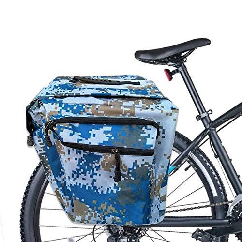 JVSISM Bolsas para Bicicletas Portaequipajes, 30L Bolsas para Equipaje para Bicicleta, Bolsa Doble Impermeable para Bicicleta, Bolsa para Bicicleta, Azul