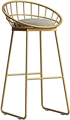 HQCC Simple Bar Stool Home High Stools Wrought Iron Leisure Nordic Bar Chair (Color :