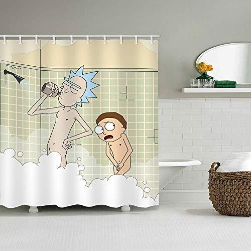 Duschvorhang | Minions | 180x180 cm | inkl. Haken 180x180cm 3