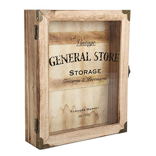 Unbekannt Vintage General Store Schlüsselkasten - Retro Dorfladen Schlüsselhalter Schlüsselbrett Schlüsselboard