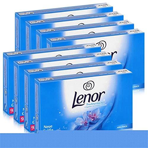 Lenor Toallitas de secado fresco, 34 toallitas, cuidado de la ropa en la secadora (8 unidades)