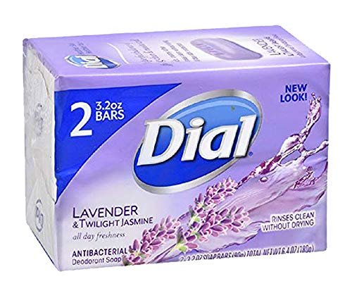Dial Lavender & Twilight Jasmine Antibacterial Deodorant Soap, 4 oz. Bars -10 Count