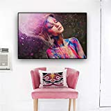 adgkitb canvas Farbe könnte Make-up Frau leinwand Kunst Poster und drucke wandbild für Wohnzimmer 58x90 cm kein Rahmen