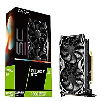 EVGA 06G-P4-1068-KR GeForce GTX 1660 Super Sc Ultra Gaming 6GB GDDR6 Dual Fan Metal Backplate