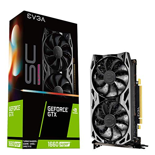 EVGA GeForce GTX 1660 Super Sc Ultra Gaming, 6GB GDDR6, Dual Fan, Metal Backplate, 06G-P4-1068-KR