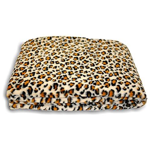 Riva Home - Safari - Plaid Leopardato (150x200cm) (Beige)