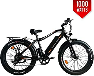 PowerMax Ebike Titan Electric Bicycle 48V 1000W Motor Electric Bike 26 Inch Fat TIRE Bike for City Beach Mountain Bike Trail
