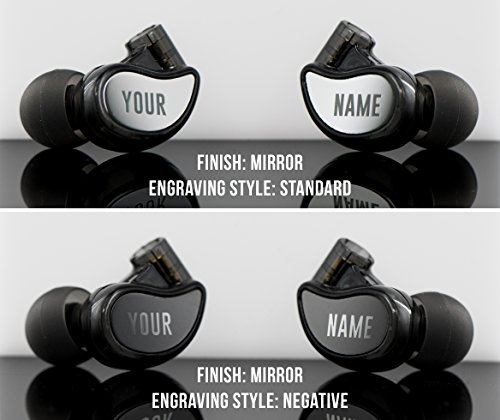 MEE audio M6 PRO 2nd generation Universal-Fit Noise-Isolating Musicians' In-Ear Monitors with Custom-Engraved Text Metal Plates (Smoke)