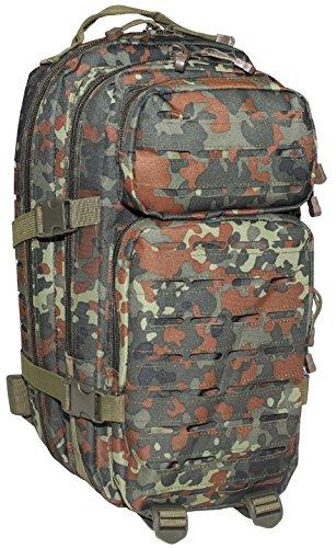 MFH US Rucksack Assault I Laser Daypack MOLLE (Flecktarn)