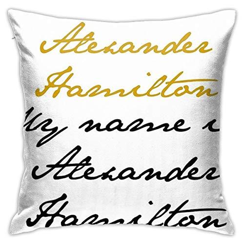 KIILA Alexander Hamilton Home Decorative Throw Pillow Cases Sofa Couch Cushion Throw Pillow Covers 18x18 Inch