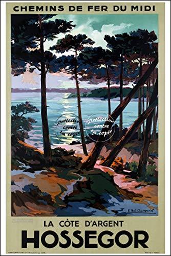 Herbé ™ Tourisme Hossegor Rf98 - Poster/Reproduction A3+(33x48cm) d'1 Affiche Vintage/Ancienne/RéTRO
