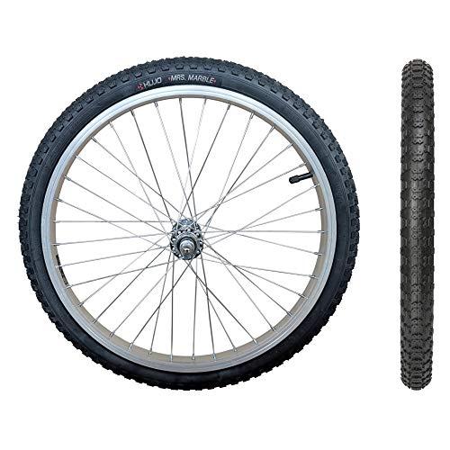 20 Zoll Laufrad, mit Reifen und Schlauch, 20x1.75 Zoll, f. Kinderrad/Anhänger (Mrs. Marble Profil)