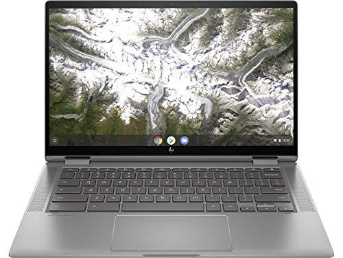 HP Chromebook x360 14c-ca0001ns - Ordenador portátil de 14' FullHD Convertible (Intel Core i5-10210U, 8GB RAM, 128GB eMMC, Intel UHD, sistema operativo Chrome OS) plata - Teclado QWERTY Español