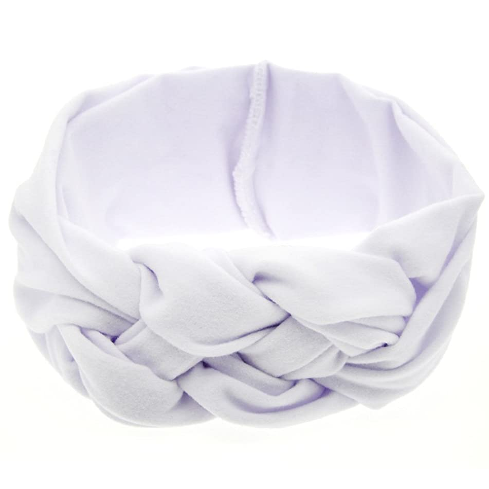 LD DRESS Elastic Flower Printed Turban Head Wrap Headband Twisted Hair Band
