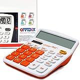 OFFIDIX Calcolatrice Da Tavolo Desktop, Calcolatore Elettronico A Doppia Alimentazione A E...