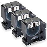 Xemax Compatible Cinta de Vinilo Industrial de 19mm Reemplazo para Dymo 18057 Rhino Etique...