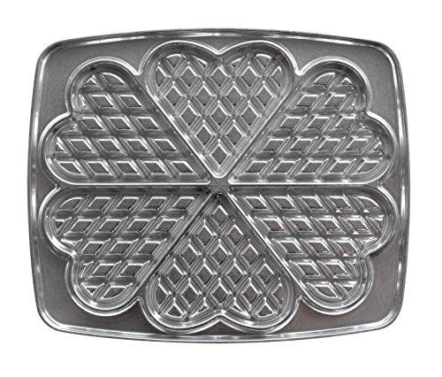 Lagrange 030521 wafels, hart, platen van gegoten aluminium, voor wafelijzer (compatibel met de referentienummers: 039111, 039211, 039411, 039511)
