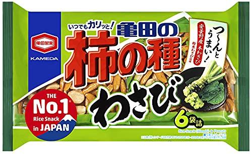 亀田製菓 亀田の柿の種わさび 6袋詰 173g×12袋