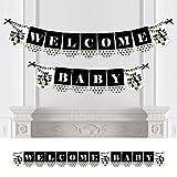 Big Dot of Happiness Party Like a Panda Bear - Banderines para fiesta de bebé, decoración de fiesta - Welcome Baby