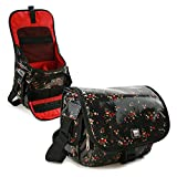 Rockabetty DSLR / Digital compact Camera case hipster oilcloth - Black - / compatible with (Ricoh RICOH / K3, K-3, GR, K-50, K-500, K5 II, K100D, KD10, K-3, K-x, K110D, K200D, K20D, K-7, K-30, K-r, X5, G452, G45, K-5 / Q7, Q10, K-01, Q, GXR, S10, P10, A16, A12, Z70, Z90 / WG-20, WG-4, GR, H215, Efina, WG=3, WG-10, MX-1, G700, LS465, WG-2, CX6)